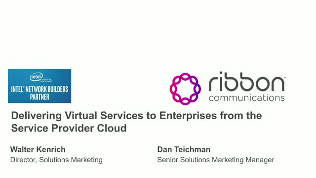 Delivering Virtual Services to Enterprises from the Service Provider Cloud