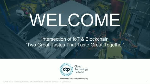 The Intersection of IoT & Blockchain: Two Great Tastes That Taste Great Together