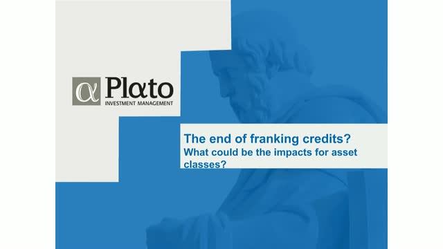 The end of franking credits & what are the impacts for asset classes