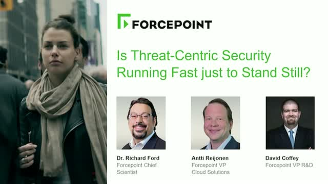 Is Threat-Centric Security Running so Fast just to Stand Still?