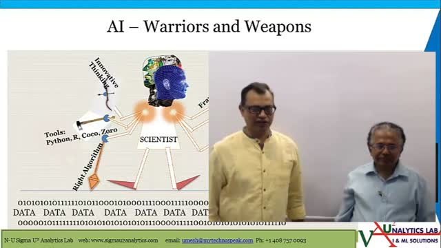 What is covered in AI Warriors and Weapons AI-inar on May 17th