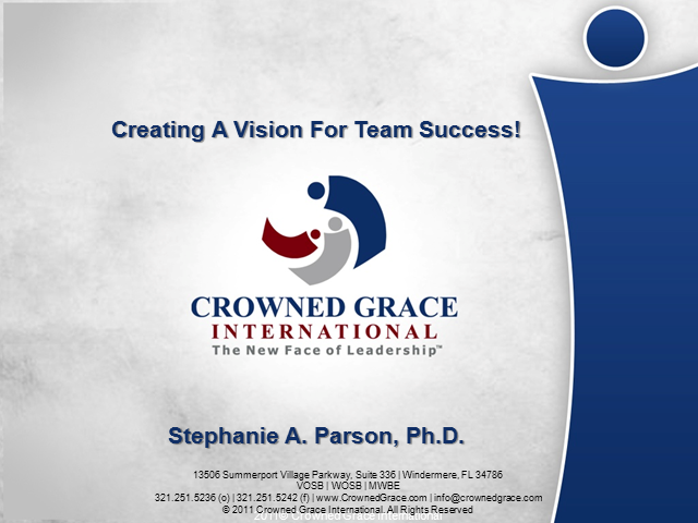 Creating A Team Vision For Organizational Success!