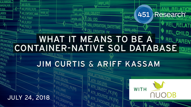 What It Means to be a Container-Native SQL Database