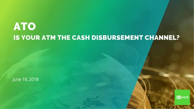 Is Account Take Over (ATO) using your ATM as a cash distribution channel?