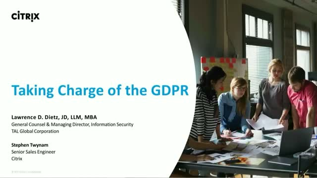 Taking Charge of GDPR