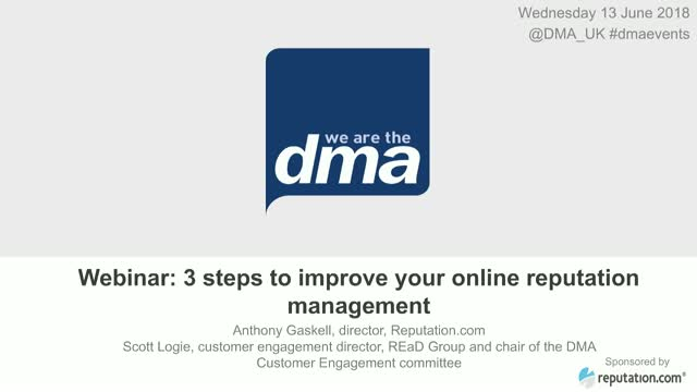 Webinar: 3 steps to improve your online reputation management