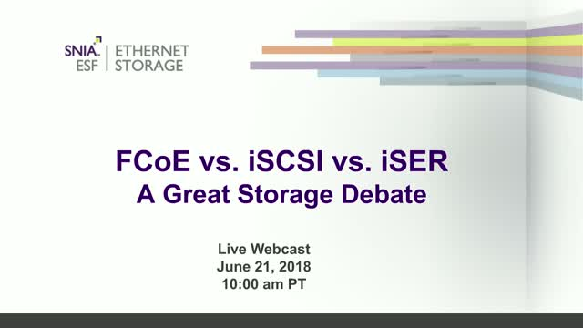 FCoE vs. iSCSI vs. iSER