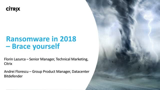 Ransomware in 2018 – Brace yourself