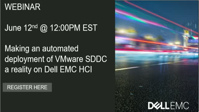 Making an Automated Deployment of Vmware SDDC a Reality on Dell EMC HCI