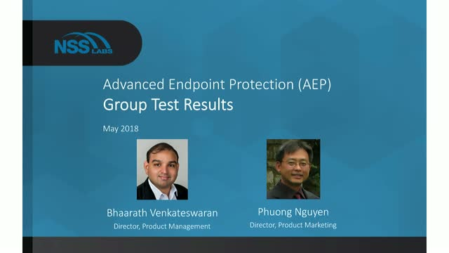 Advanced Endpoint Protection (AEP) 2.0 Group Test Results
