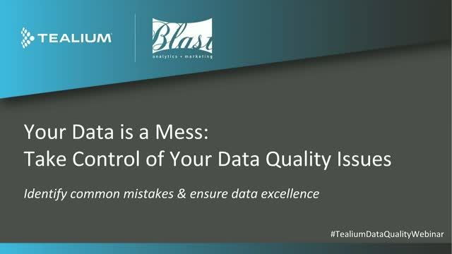 Your Data Is A Mess: Take Control Of Data Quality Issues