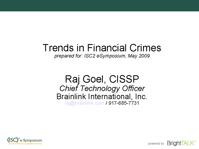 Trends in Financial Crimes