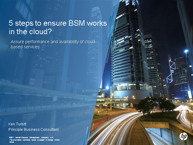 Five Steps to Ensure BSM Works In the Cloud