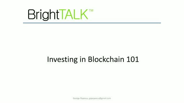 Investing in Blockchain 101