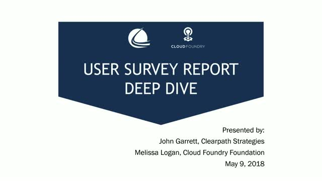 Cloud Foundry User Report Deep Dive