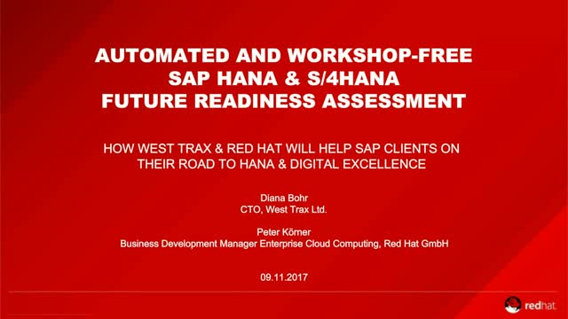 Automated and Workshop-Free SAP HANA & S/4HANA Future Readiness Assessment