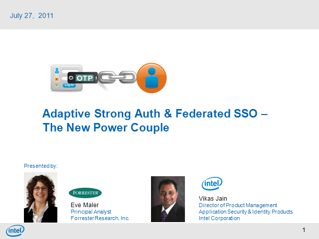 Adaptive Strong Auth & Federated SSO - The New Power Couple