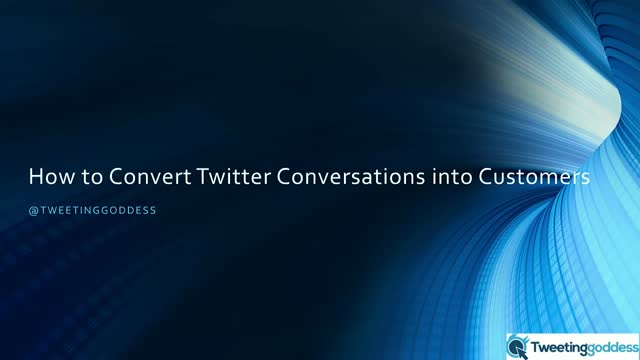 How to turn conversations on Twitter into conversions