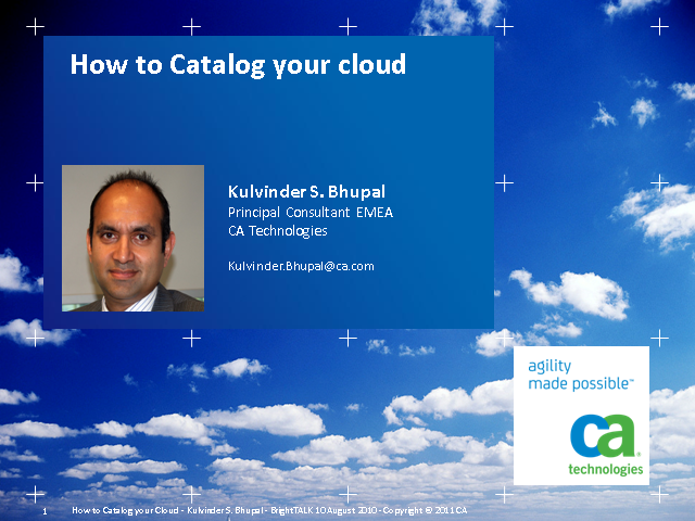 How to Catalog Your Cloud