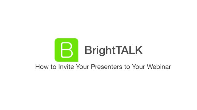 How to Invite Your Presenters to Your Webinar