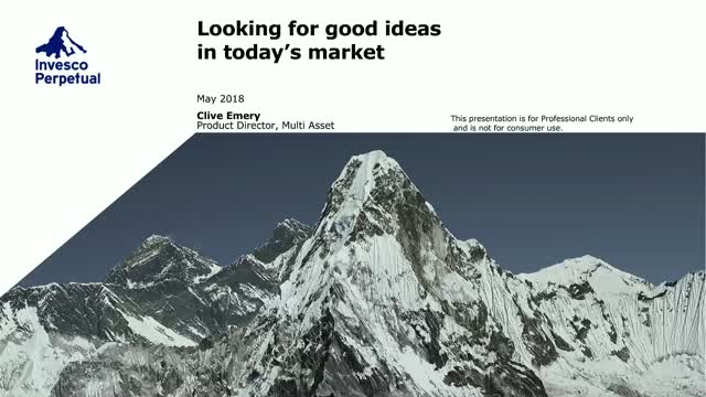 Multi-Asset Investing - Looking for Good Ideas in Today's Markets