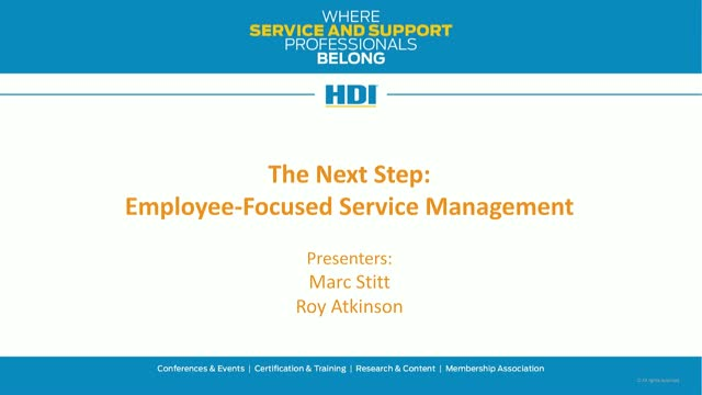 The Next Step: Employee-Focused Service Management