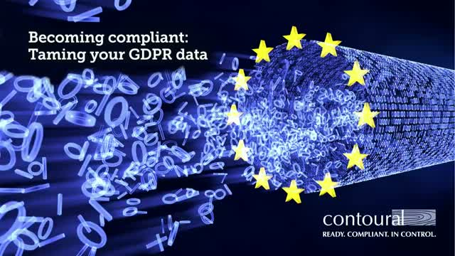 Becoming Compliant: Taming Your GDPR Data