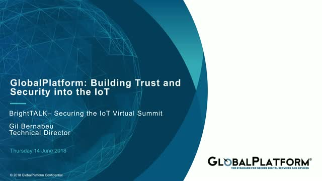 Building Trust and Security into the IoT