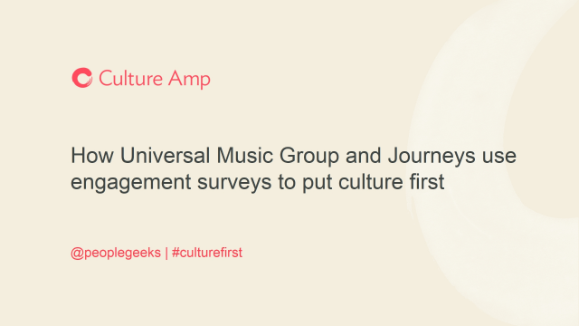 How two enterprise companies use engagement surveys to put culture first