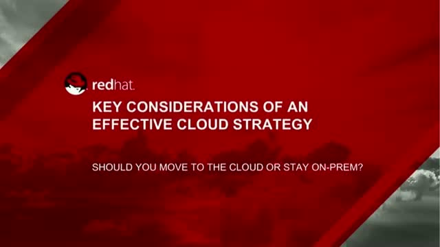 Key Considerations of an Effective Cloud Strategy