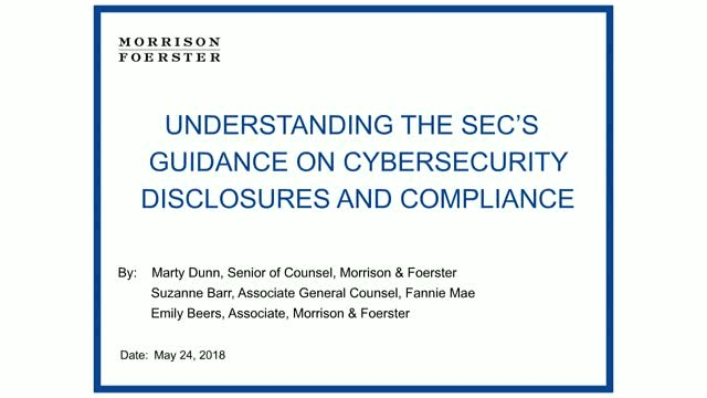 Understanding the SEC's Guidance on Cybersecurity Disclosures and Compliance