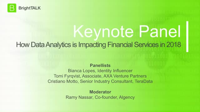 [Panel] How Data Analytics is Impacting Financial Services in 2018