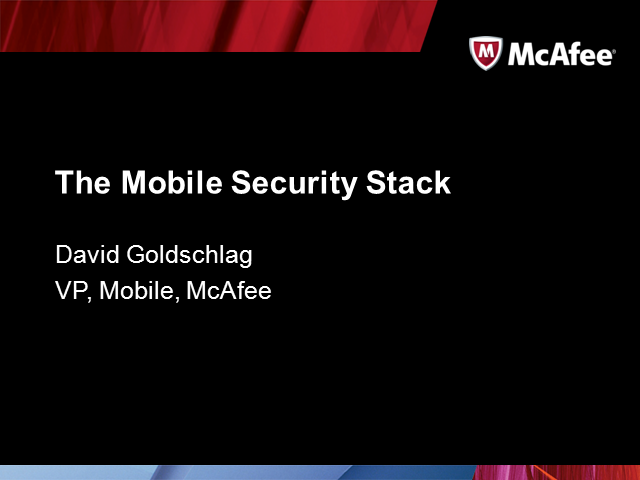 The Mobile Security Stack