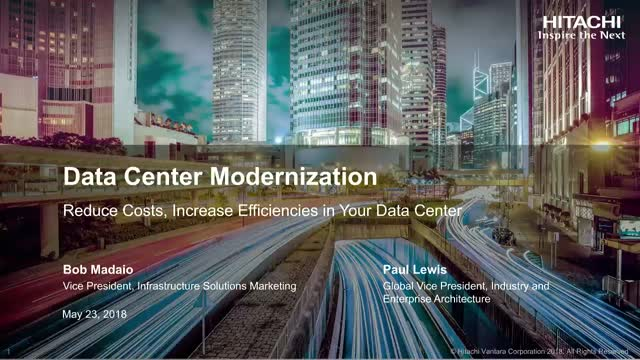 Reduce Costs, Increase Efficiencies in Your Data Center