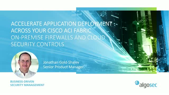 Accelerate Application Deployment Across Cisco ACI Fabric, On-Premise Firewalls