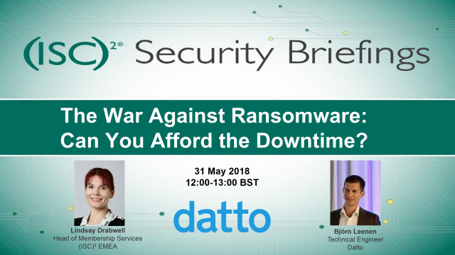 The War Against Ransomware: Can You Afford the Downtime?