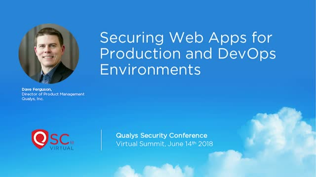 Securing Web Apps for Production and DevOps Environments