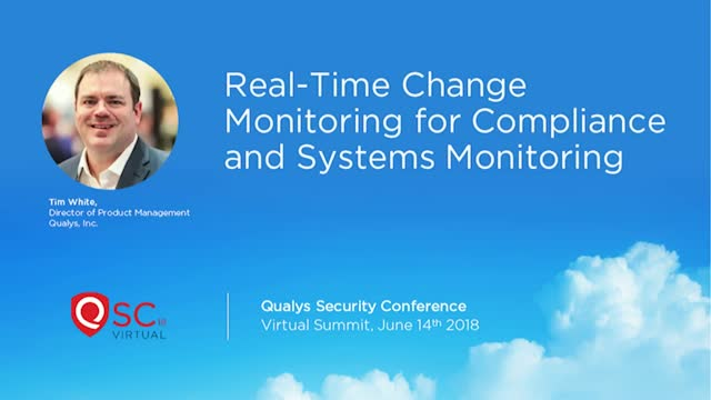 Real-Time change monitoring for Compliance and Systems Monitoring