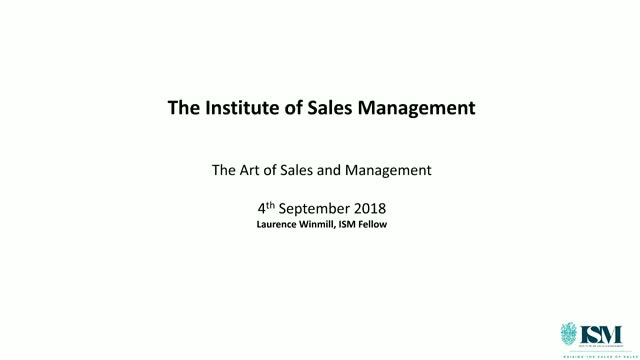 The Art of Sales and Management