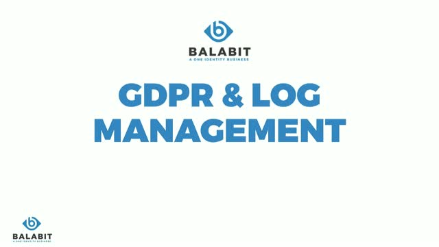 How can you ensure that your logging infrastructure is GDPR compliant?