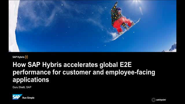 How SAP Hybris Delivers E2E Performance