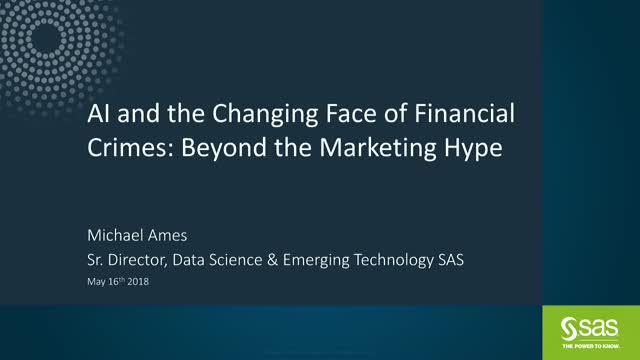 AI and the Changing Face of Financial Crimes: Beyond the Marketing Hype