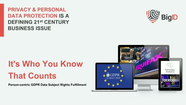 It's Who You Know That Counts: Person-centric GDPR DSAR Fulfillment