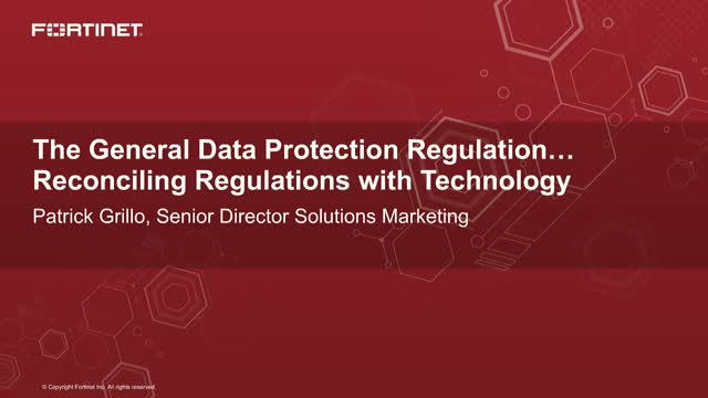 GDPR – Reconciling Regulations with Technology