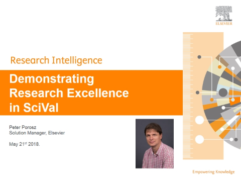 Demonstrating research excellence in SciVal