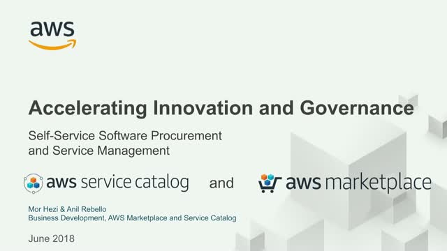Innovative cloud software procurement with AWS Marketplace