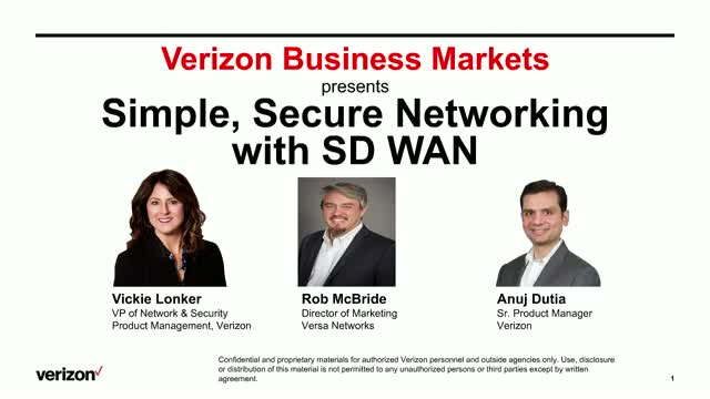 Simple, Secure Networking with SD WAN