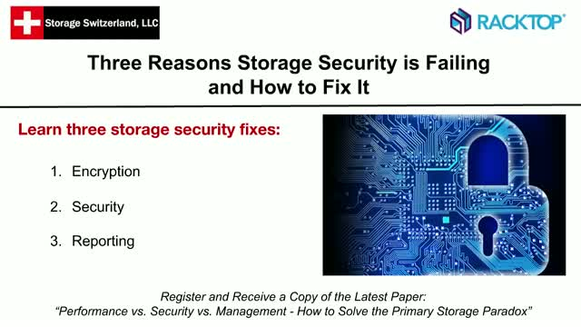 Three Reasons Storage Security is Failing and How to Fix It