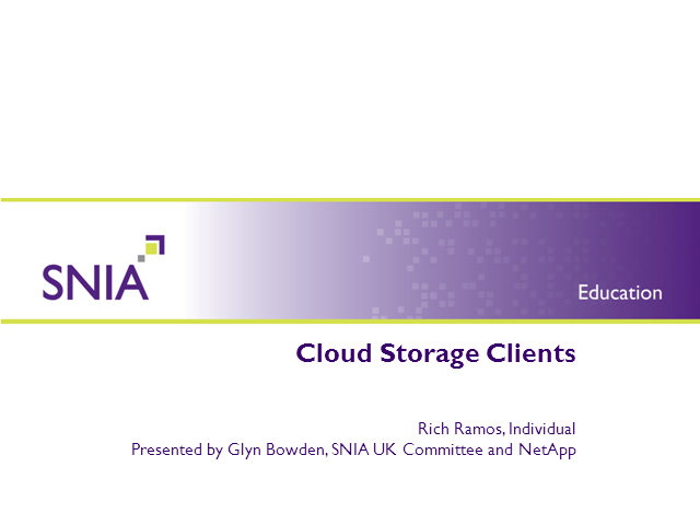 Cloud Storage Clients