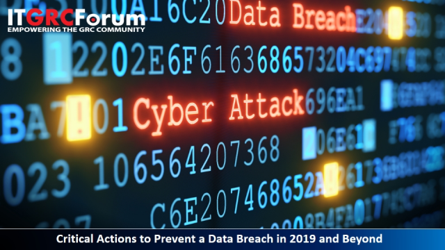 [Earn 1 CPE] Critical Actions to Prevent a Data Breach in 2019 and Beyond